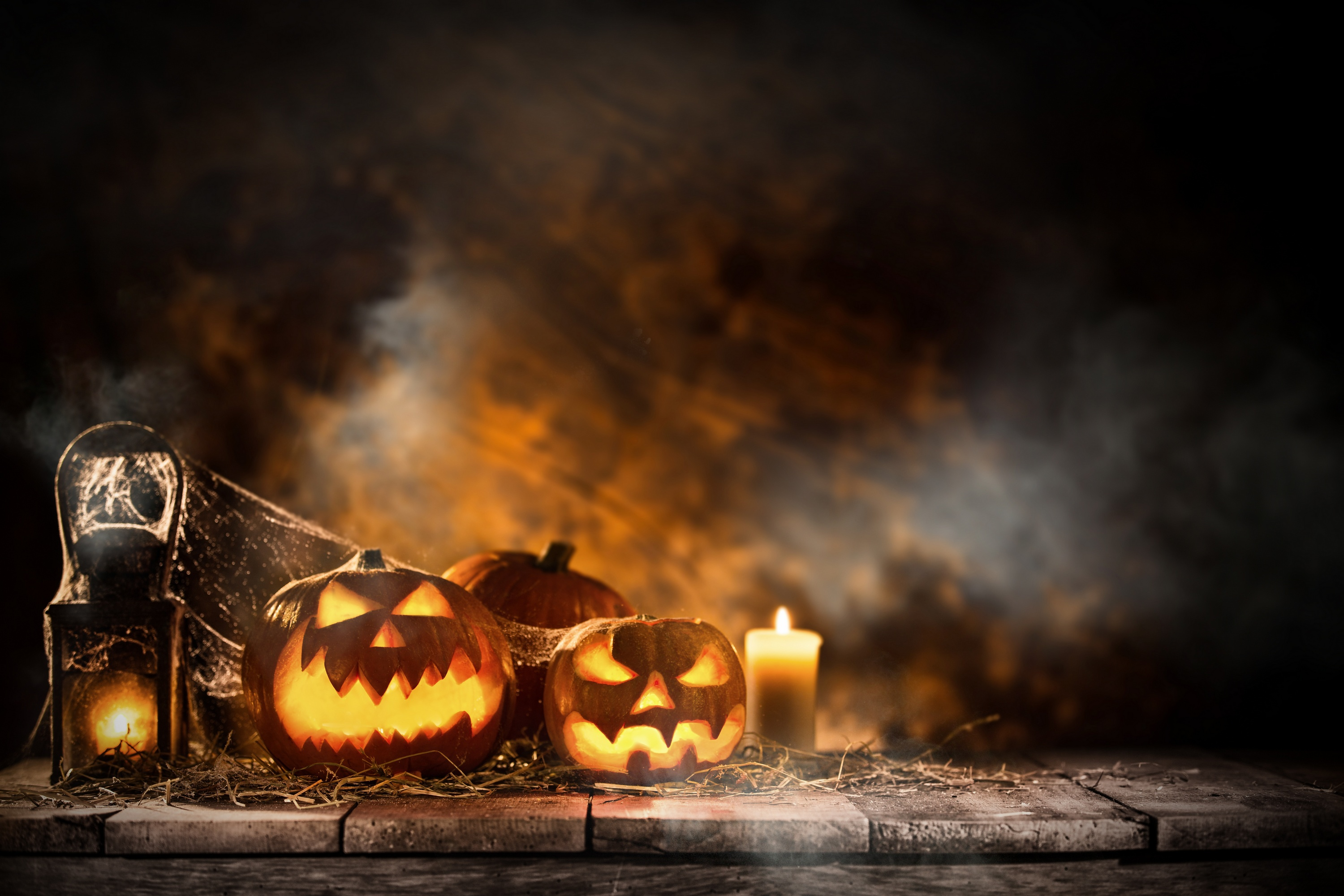 Fall Wallpaper With Pumpkins Halloween Candle And Pumpkins Hd Celebrations 4k
