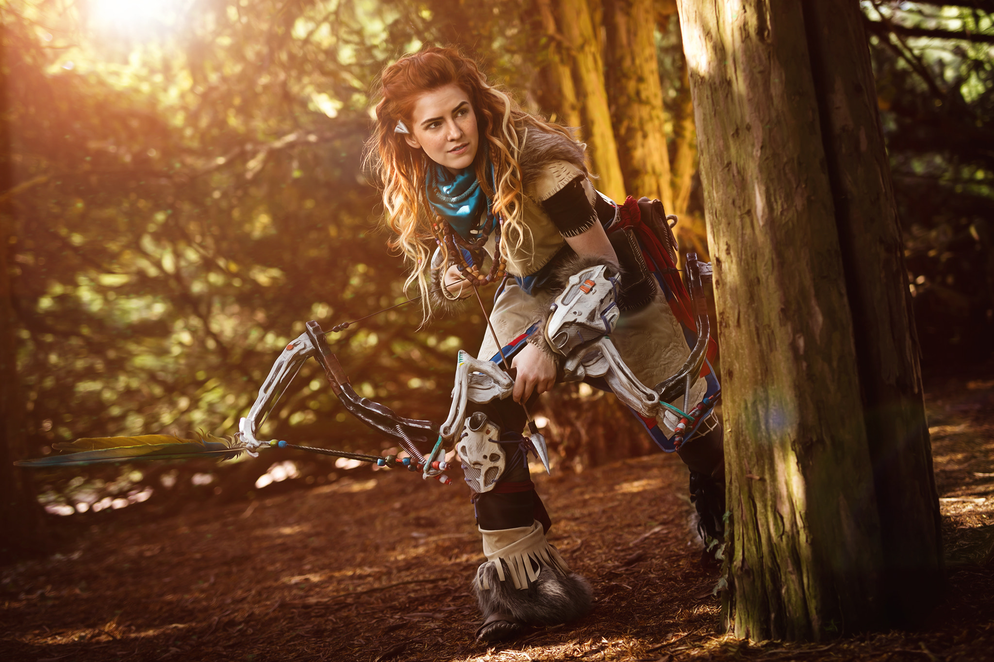 Red Indian Girl Wallpaper Horizon Zero Dawn Cosplay Hd Games 4k Wallpapers Images