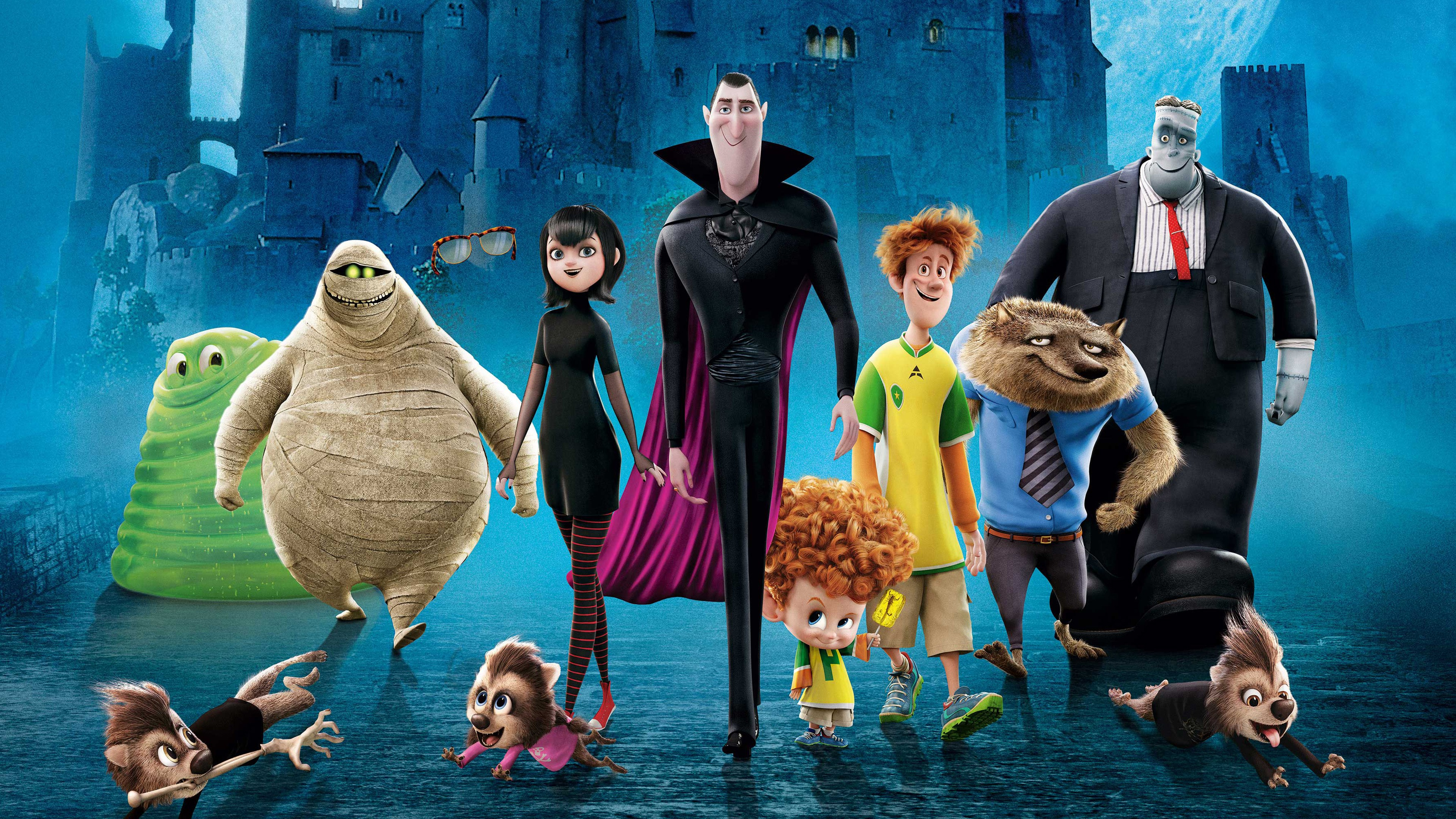 3d Beach Wallpaper For Walls Hotel Transylvania 2 Hd Movies 4k Wallpapers Images