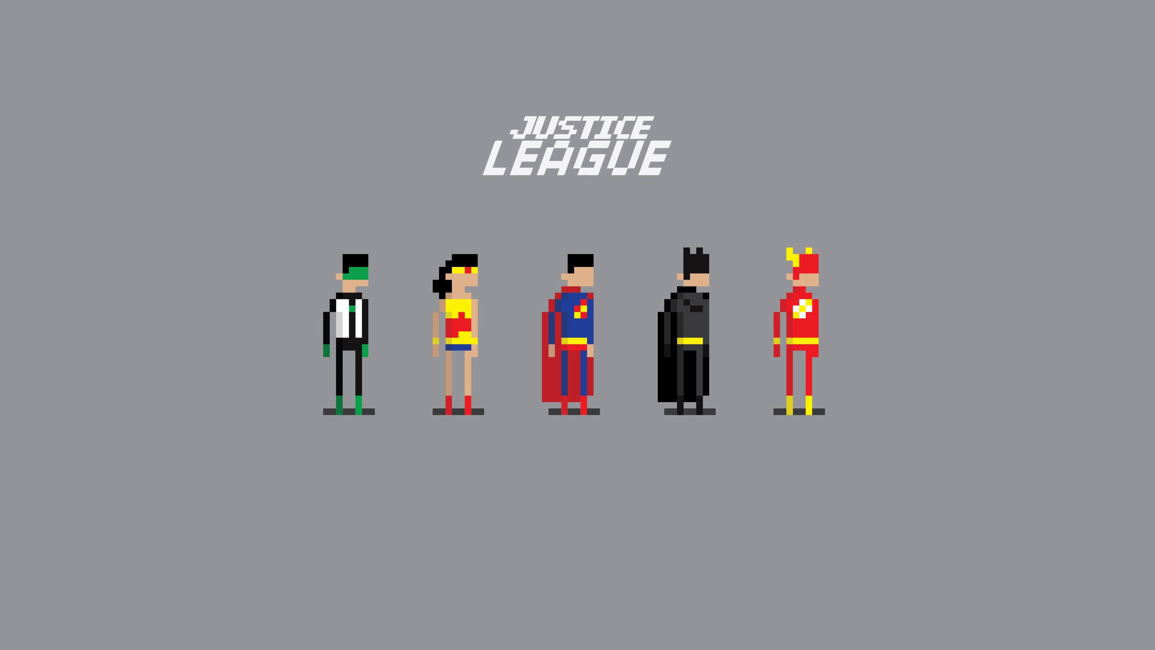 Anime Lock Screen Wallpaper Justice League 8 Bit Hd Superheroes 4k Wallpapers
