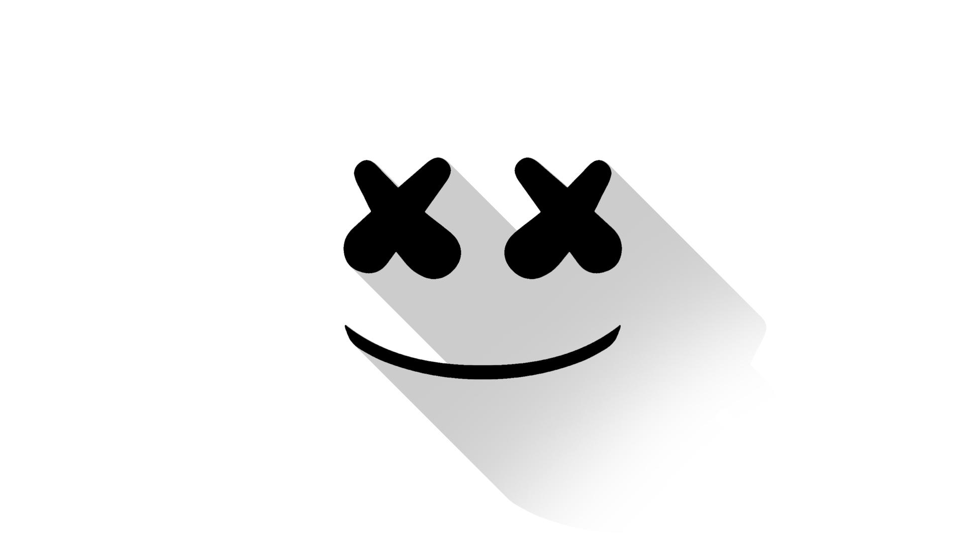 Cute Marshmallow Wallpaper Hd Marshmello Dj Material Design Logo Hd Music 4k