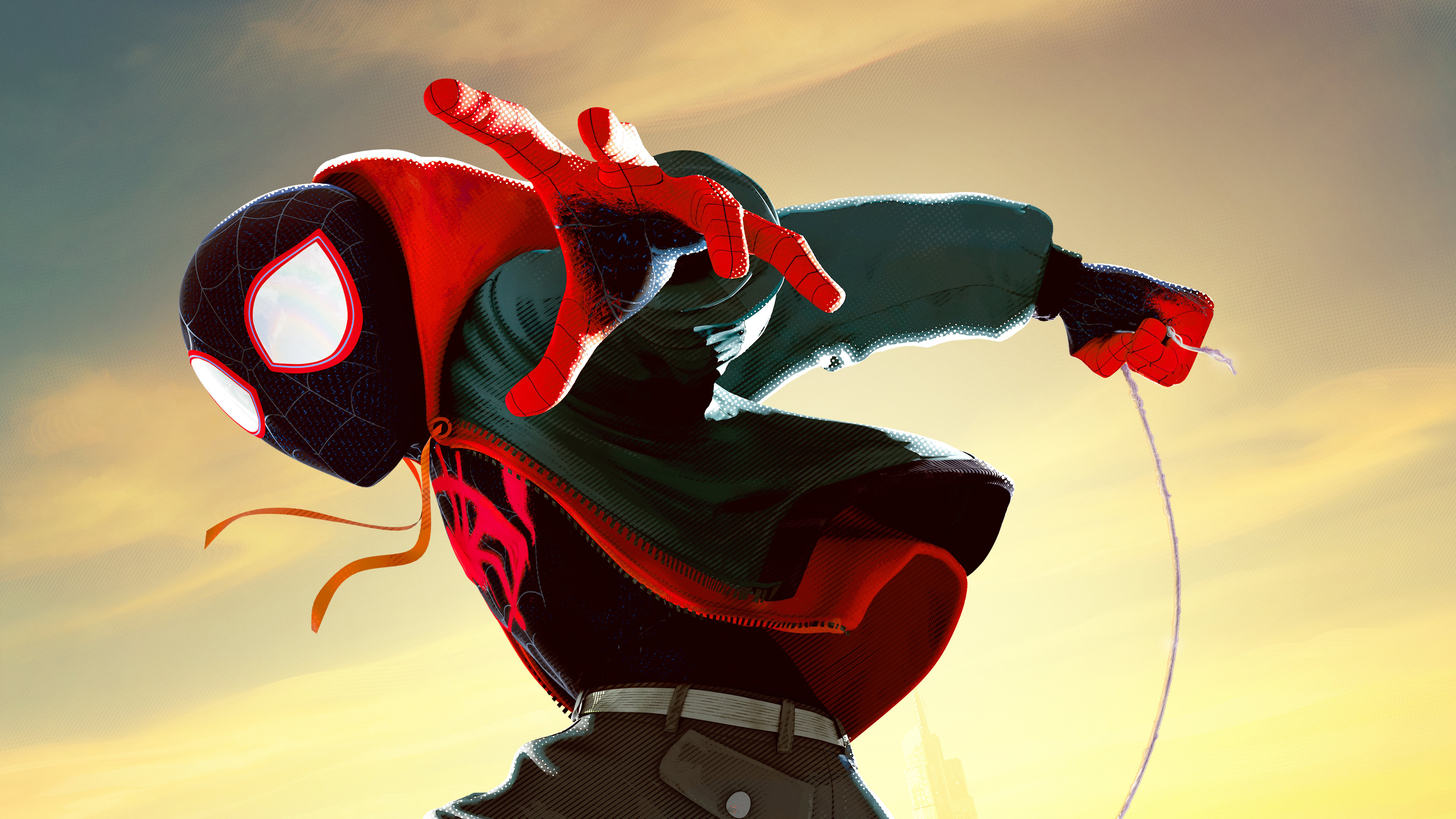 Animated Spider Wallpaper Miles Morales In Spider Man Into The Spider Verse Movie 5k