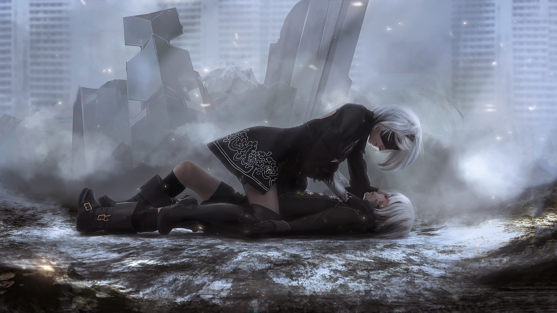 Nier Automata Cute Wallpaper Android Nier Automata 2b And 9s Art Hd Games 4k Wallpapers