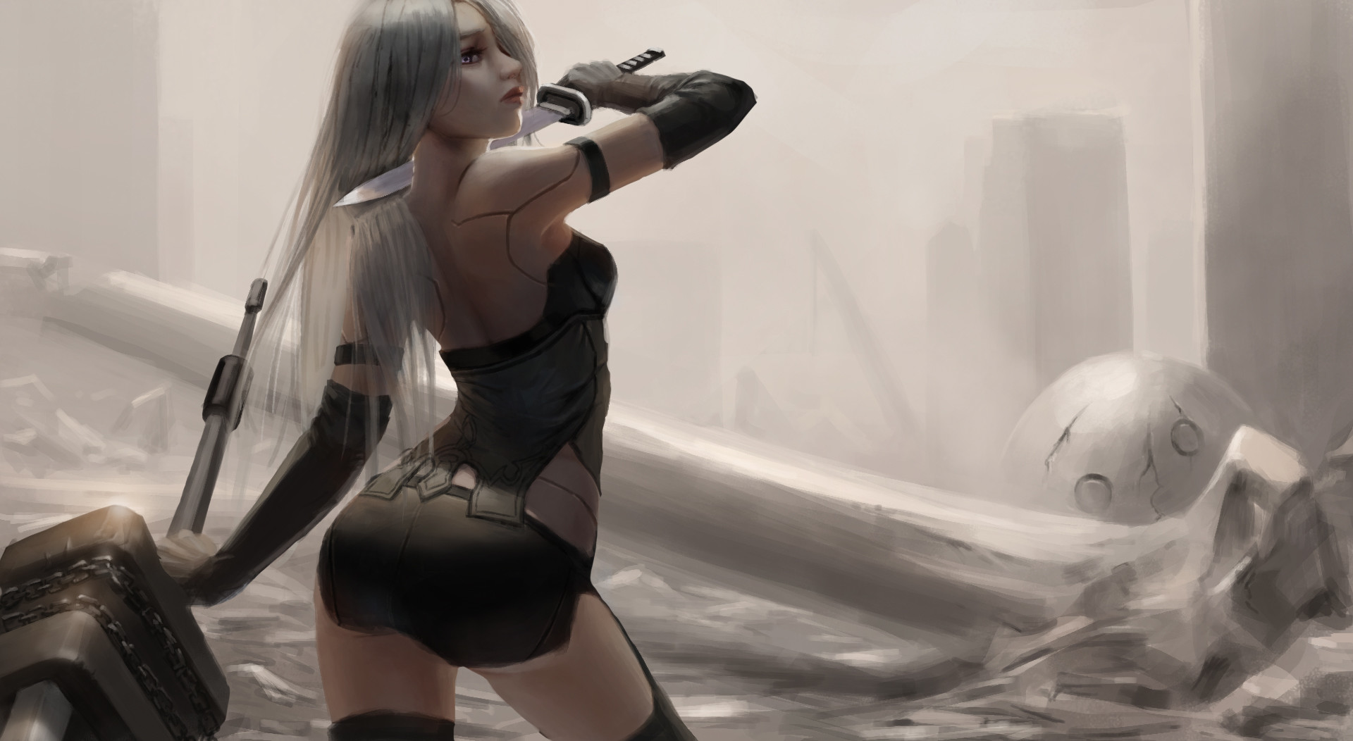 Nier Automata Cute Wallpaper Android Nier Automata Fan Art Hd Games 4k Wallpapers Images