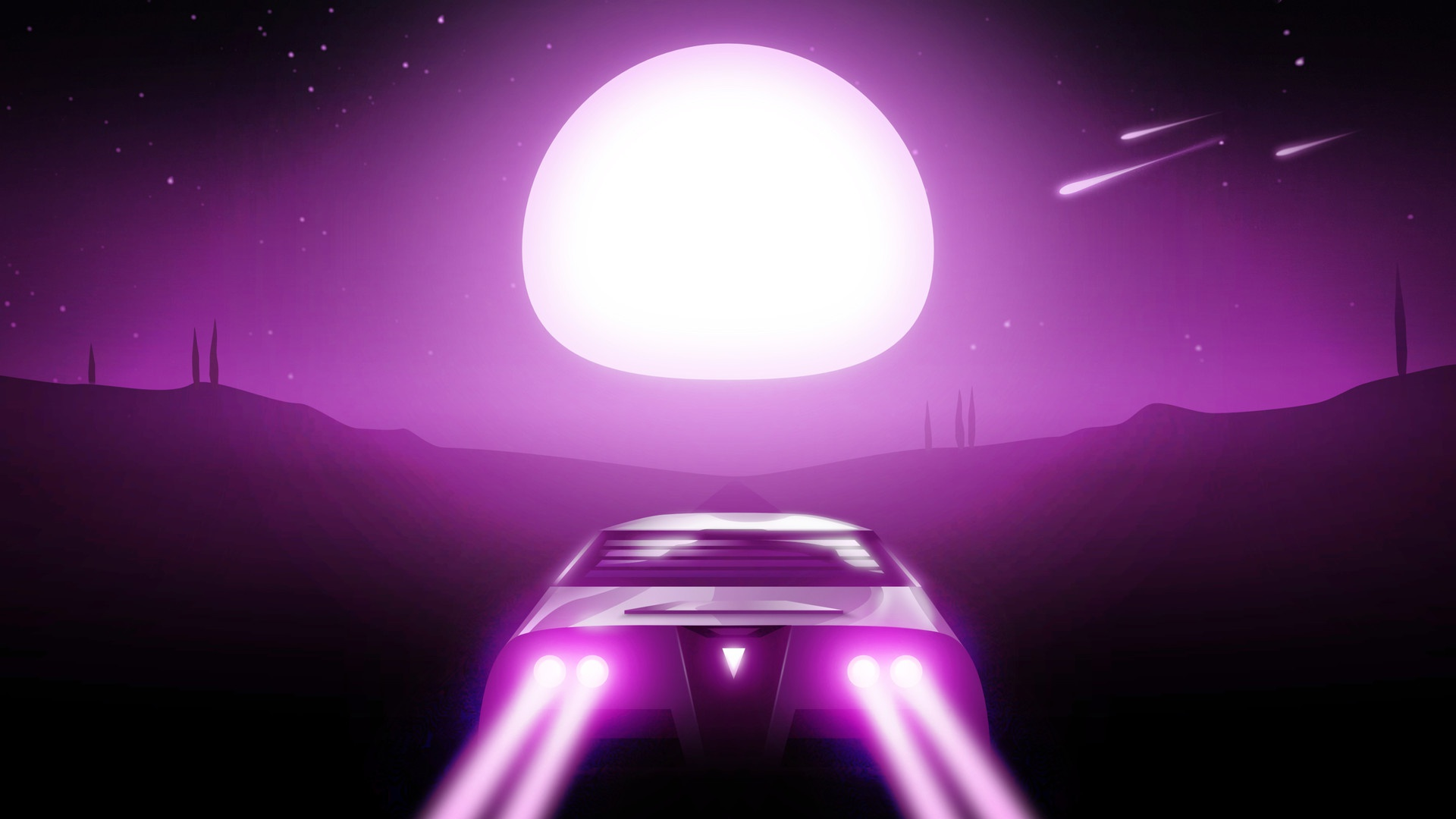 Chillwave Car Wallpaper 1440x900 Night Drive Synthwave Hd Artist 4k Wallpapers Images