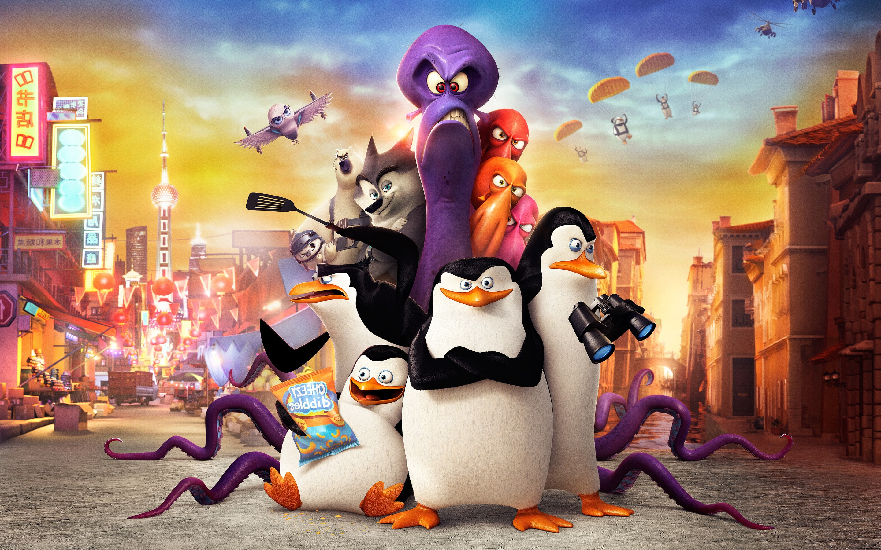 3d Cartoon Girl Wallpapers Penguins Of Madagascar Movie Hd Movies 4k Wallpapers