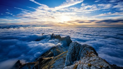 Saentis Mountains Clouds View From Top 4k, HD Nature, 4k Wallpapers, Images, Backgrounds, Photos ...