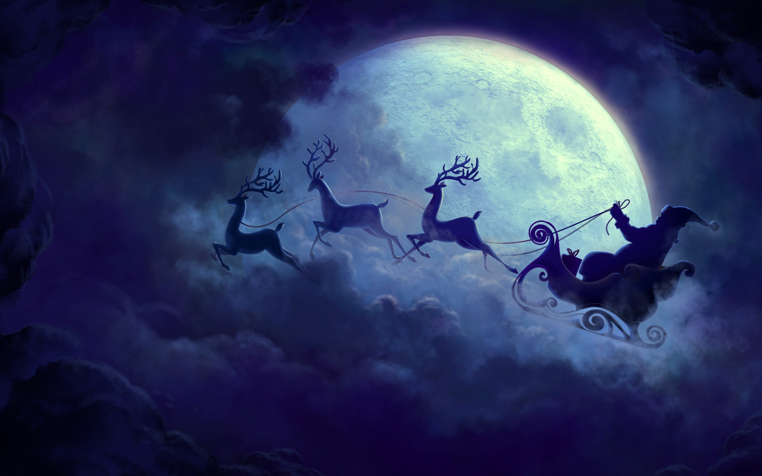 Wallpapers Wide Hd 1920x1080 Cars Santa Claus Moon Hd Celebrations 4k Wallpapers Images