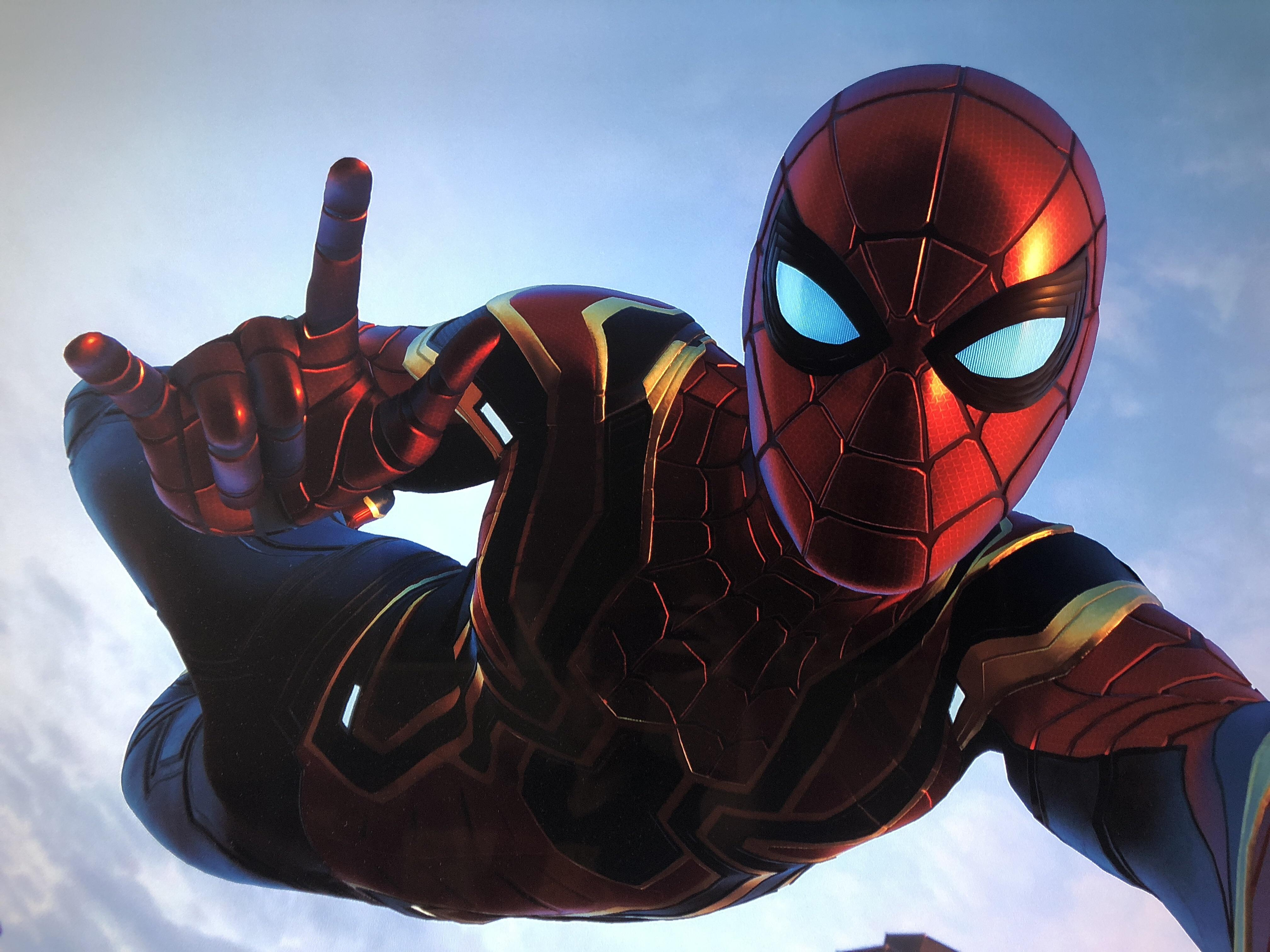 Spiderman Ps4 Wallpaper Hd Spiderman Iron Stark Suit Hd Games 4k Wallpapers Images