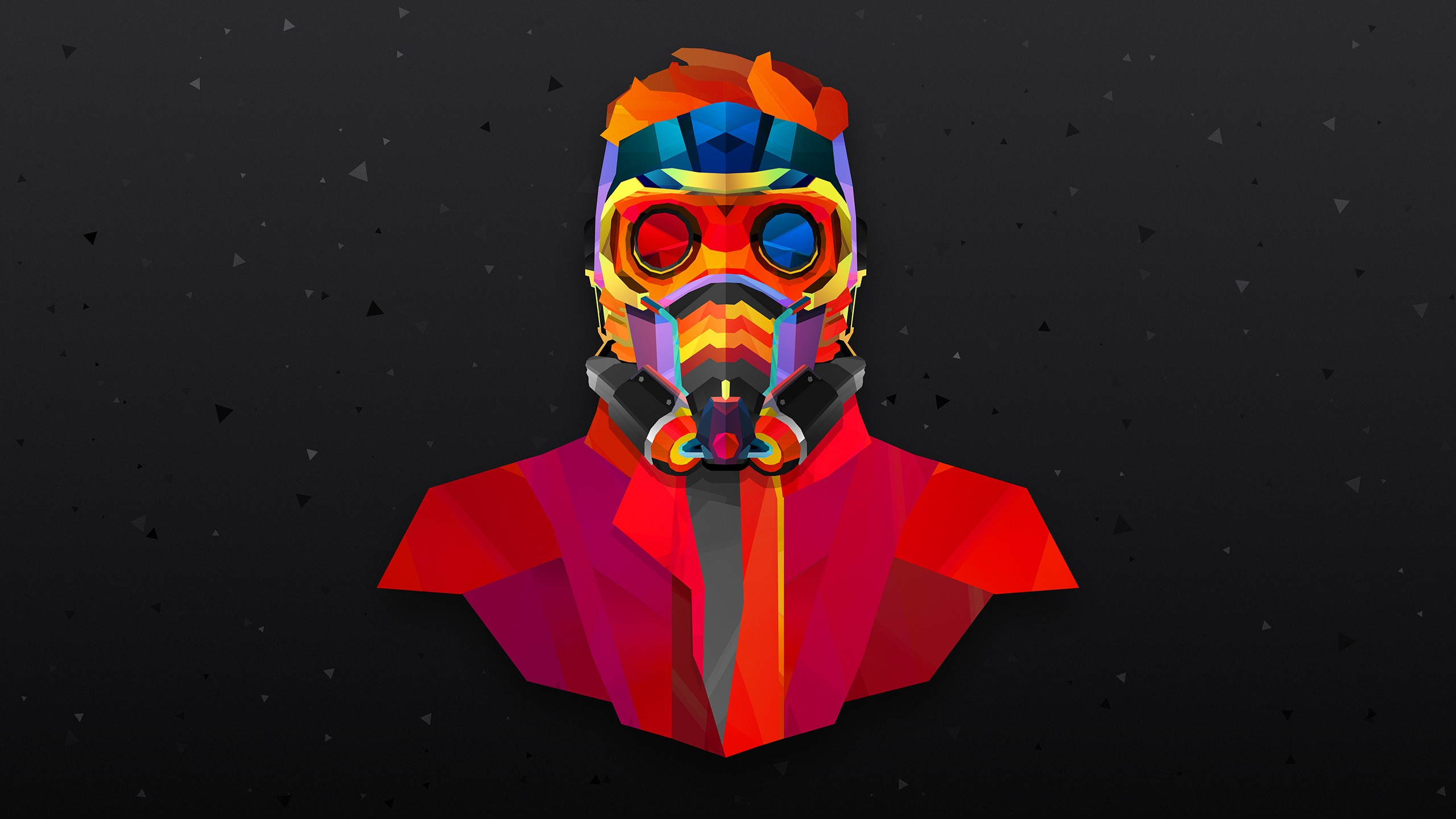 3d Wallpaper 800x1280 2048x1152 Star Lord Colorful Abstract 2048x1152 Resolution