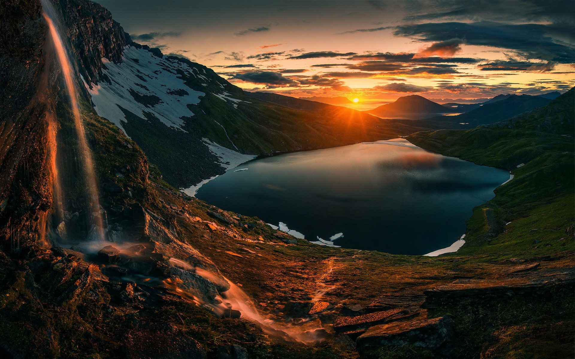 3d Wallpaper 800x1280 Sunset Over Mountains Hd Nature 4k Wallpapers Images