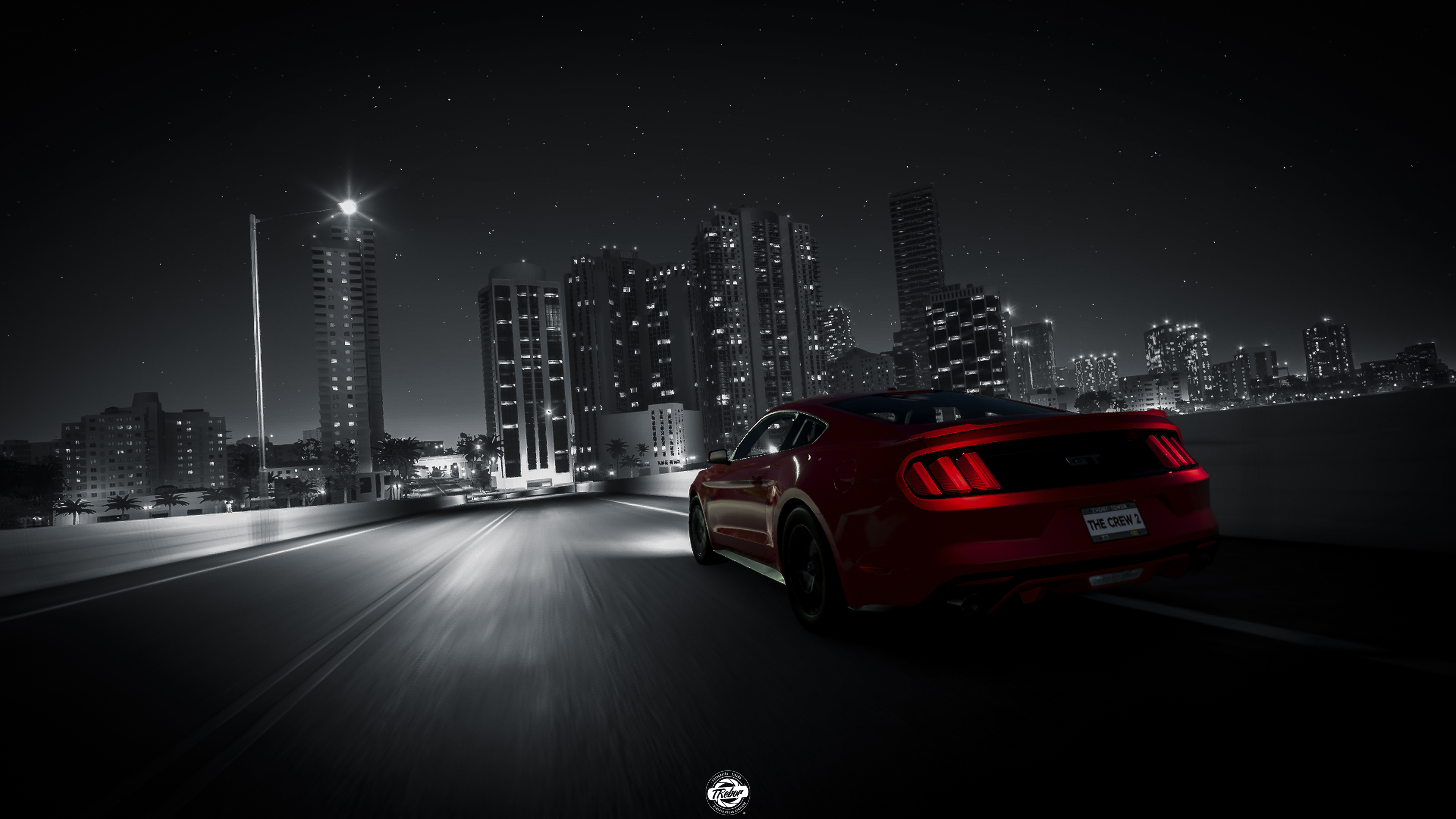 Car Logo Wallpapers For Mobile The Crew 2 Ford Mustang Rear Lights 4k Hd Games 4k