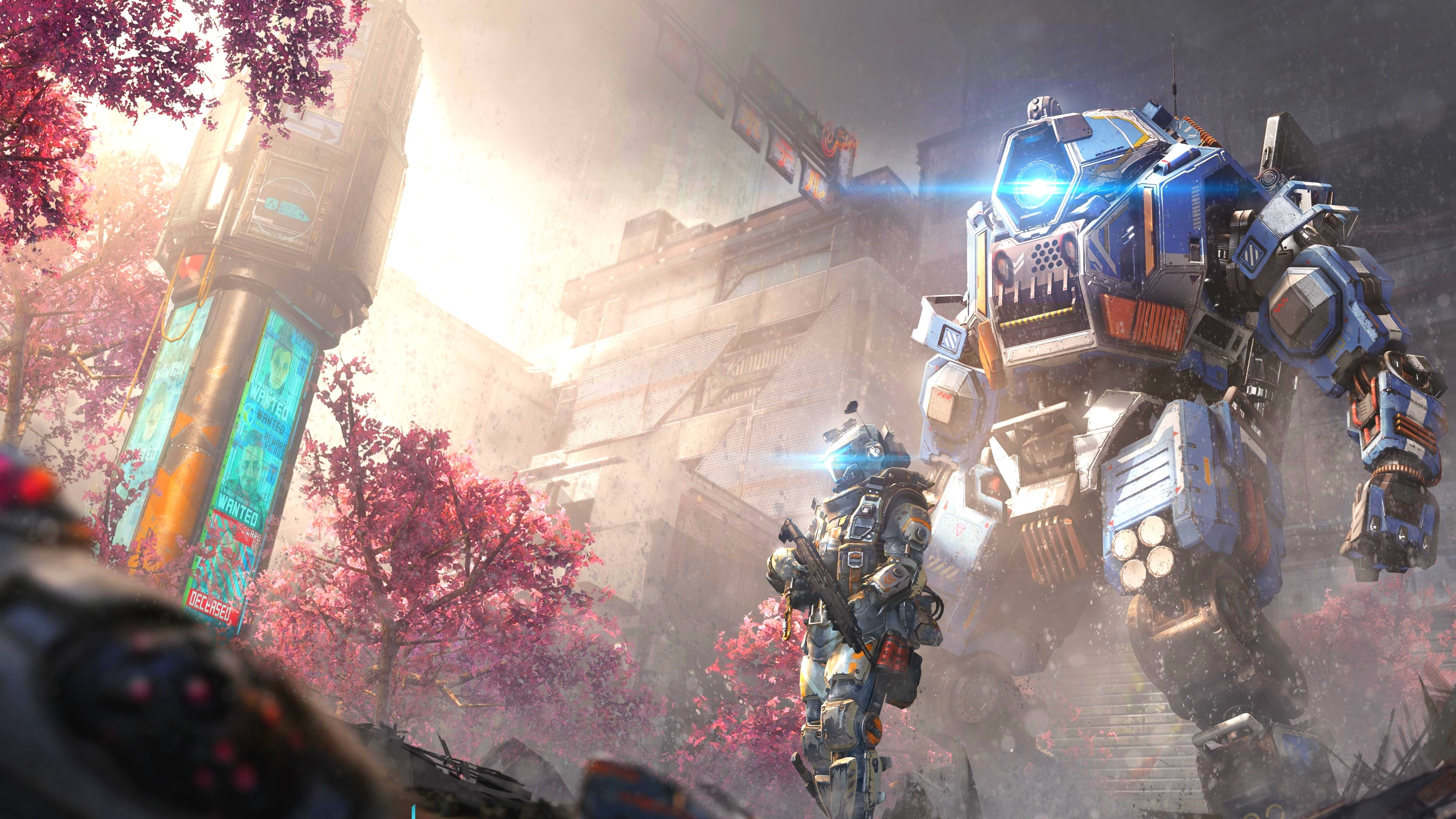 3d Wallpaper 800x1280 Titanfall 2 Angel City Hd Games 4k Wallpapers Images