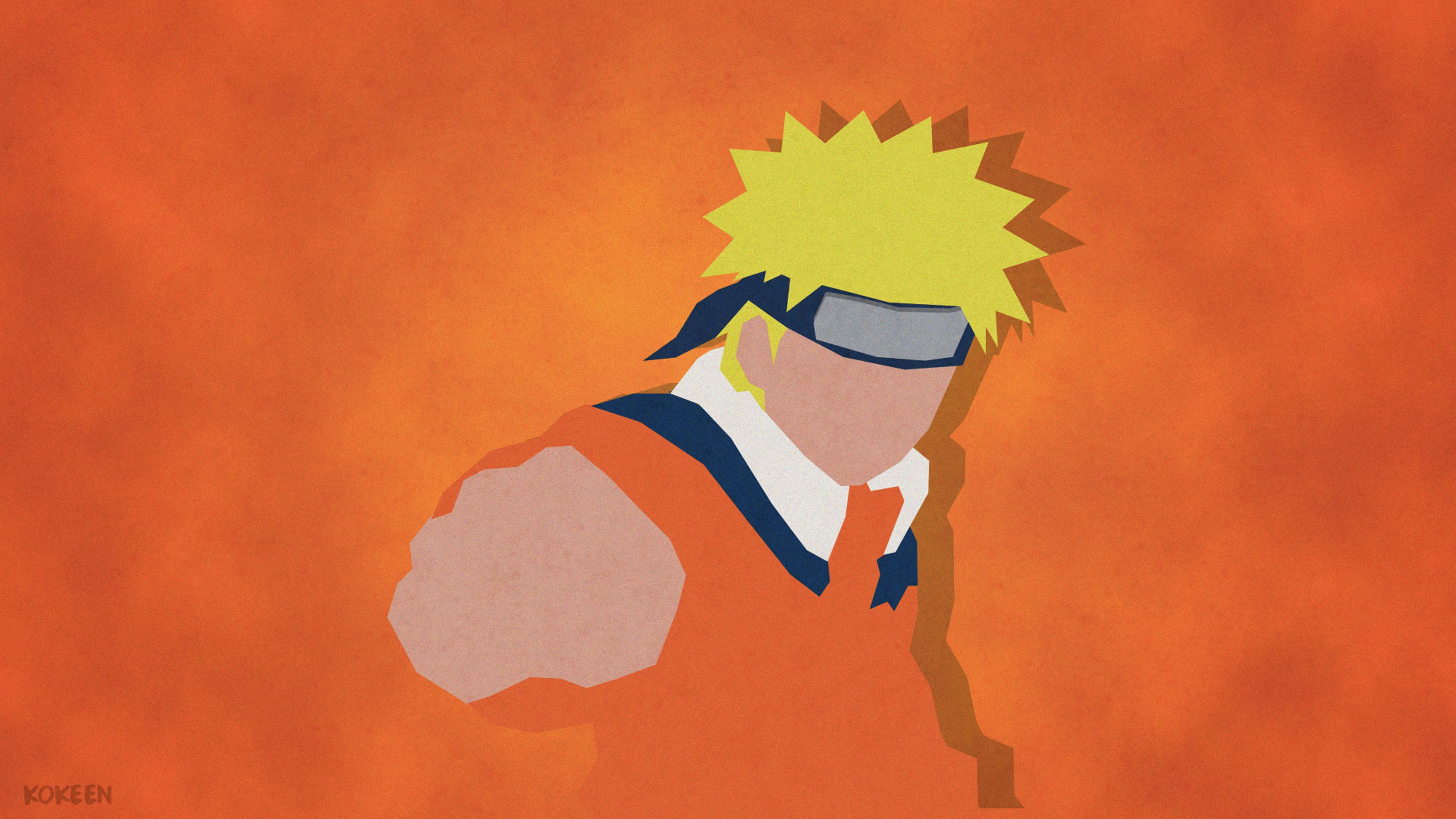 3d Wallpaper For Mobile 480x800 Uzumaki Naruto Shippuuden Minimalism 4k Hd Anime 4k