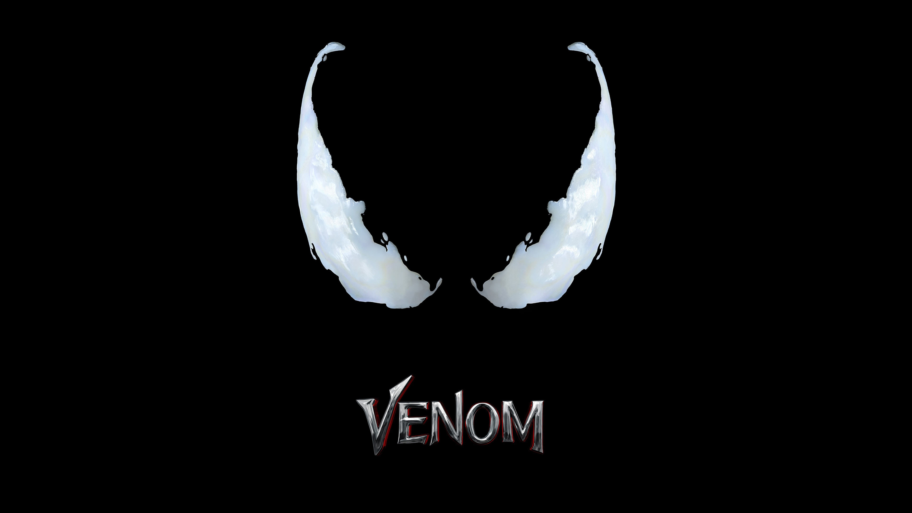 Cute K On Wallpaper 1360x768 Venom Movie Logo 4k Laptop Hd Hd 4k Wallpapers