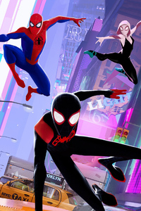 Animated Spider Wallpaper 1125x2436 Spiderman Into The Spider Verse 2018 Movie