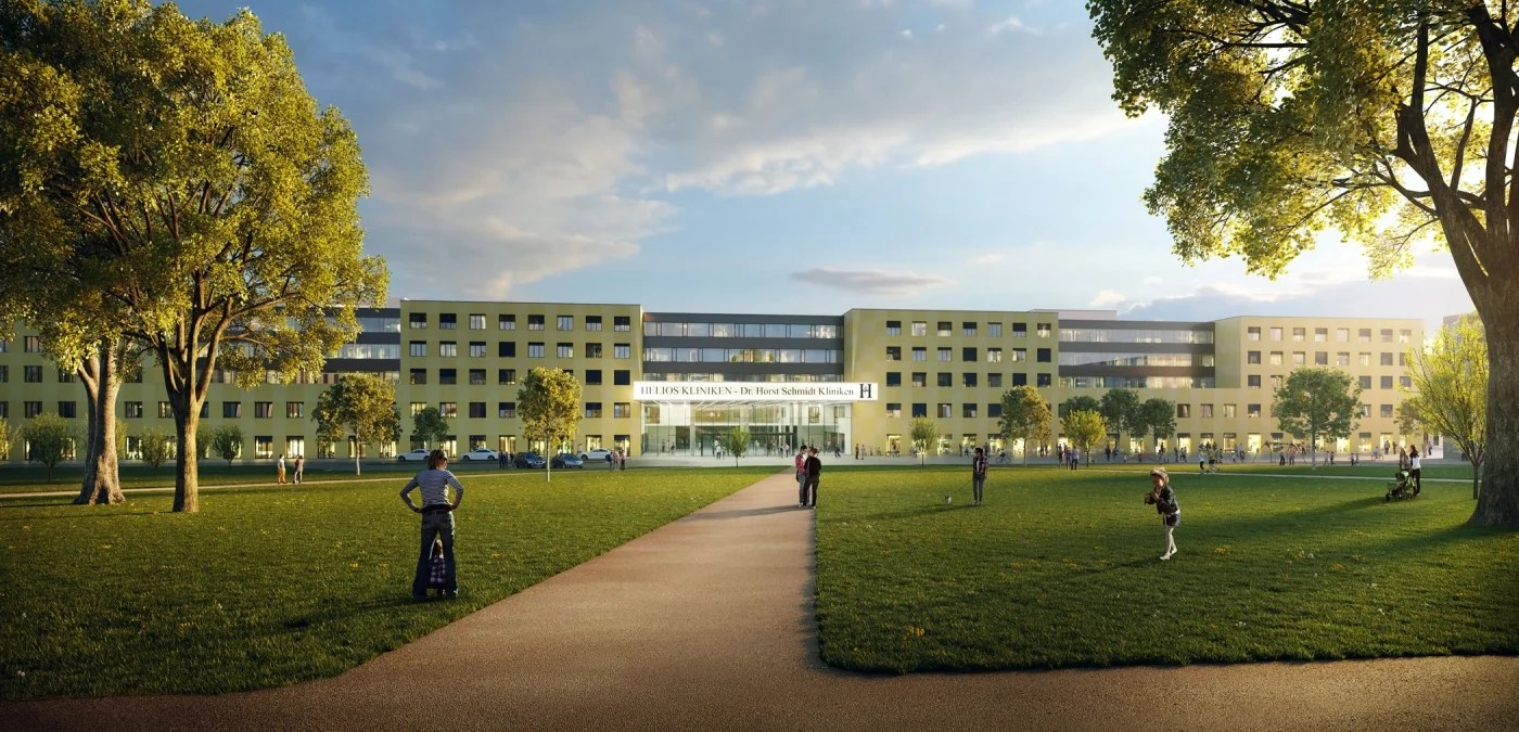 Wellness In Wiesbaden Helios Group Tops Out Hdr Designed Hospital In Wiesbaden Germany