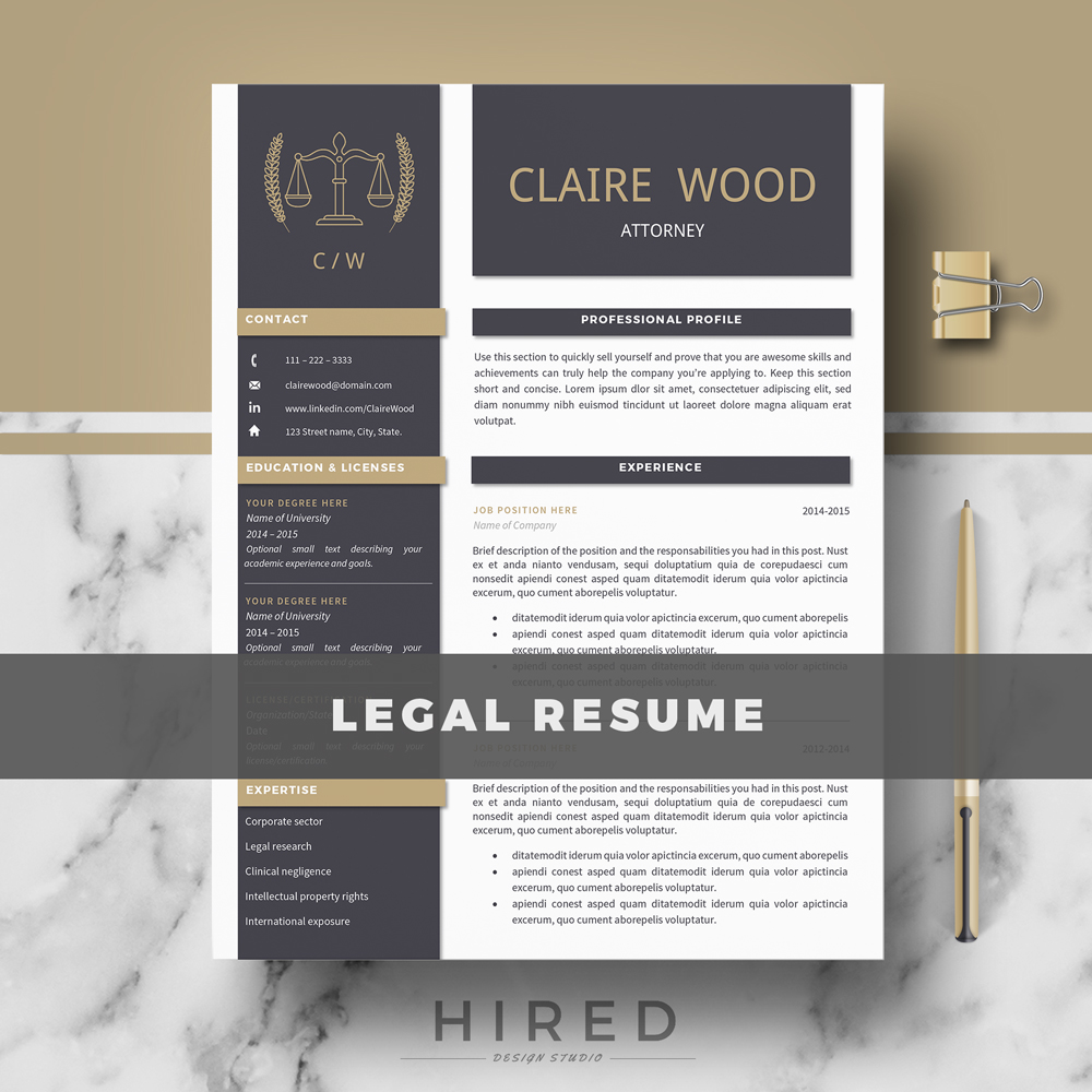 cv avocat design