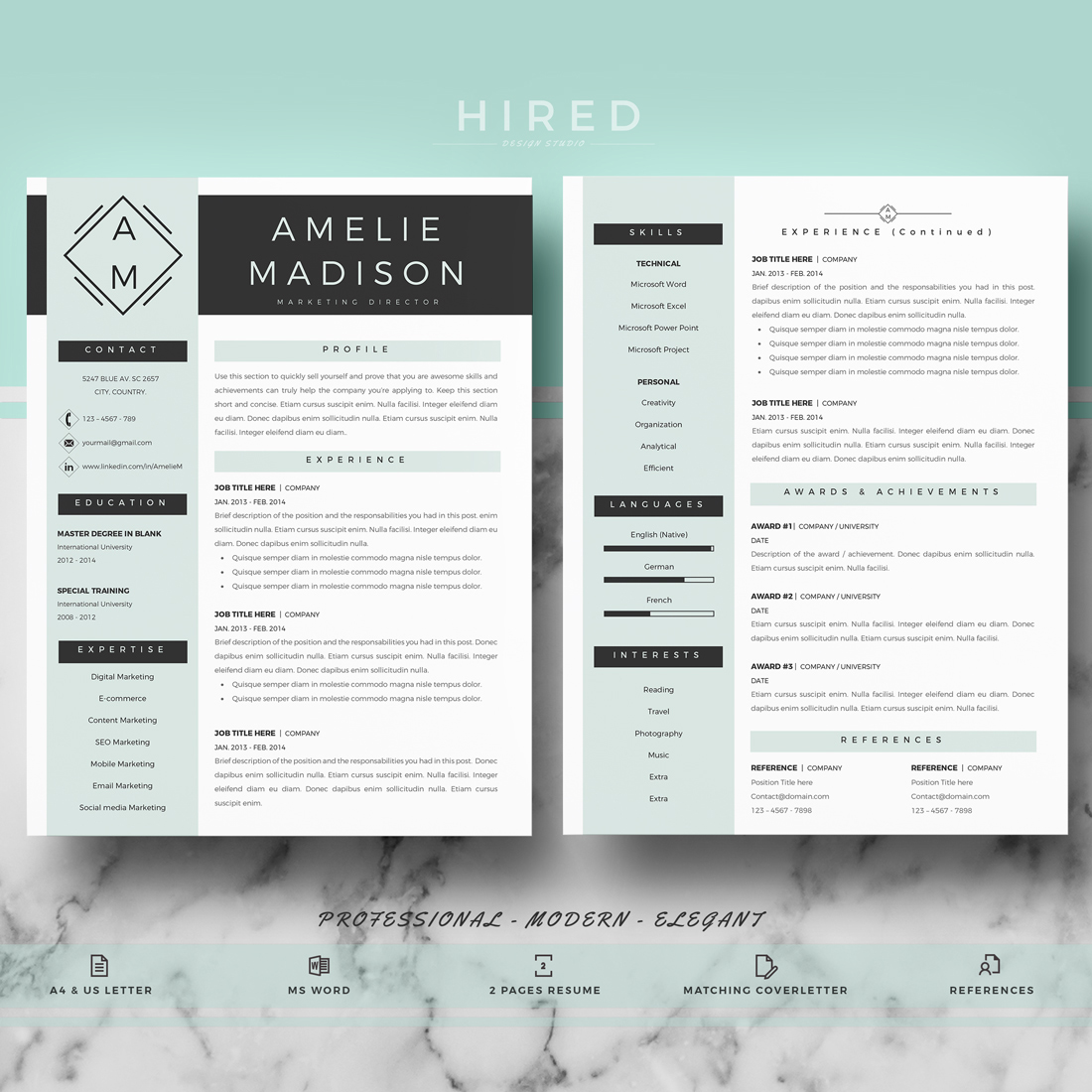 diy resume template