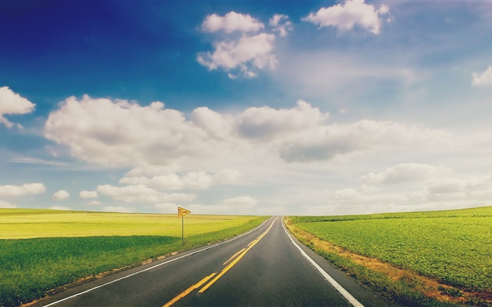Cute Love Wallpapers For Mobile Free Download Green Grass Road Highway Clouds Hd Wallpapers Travel