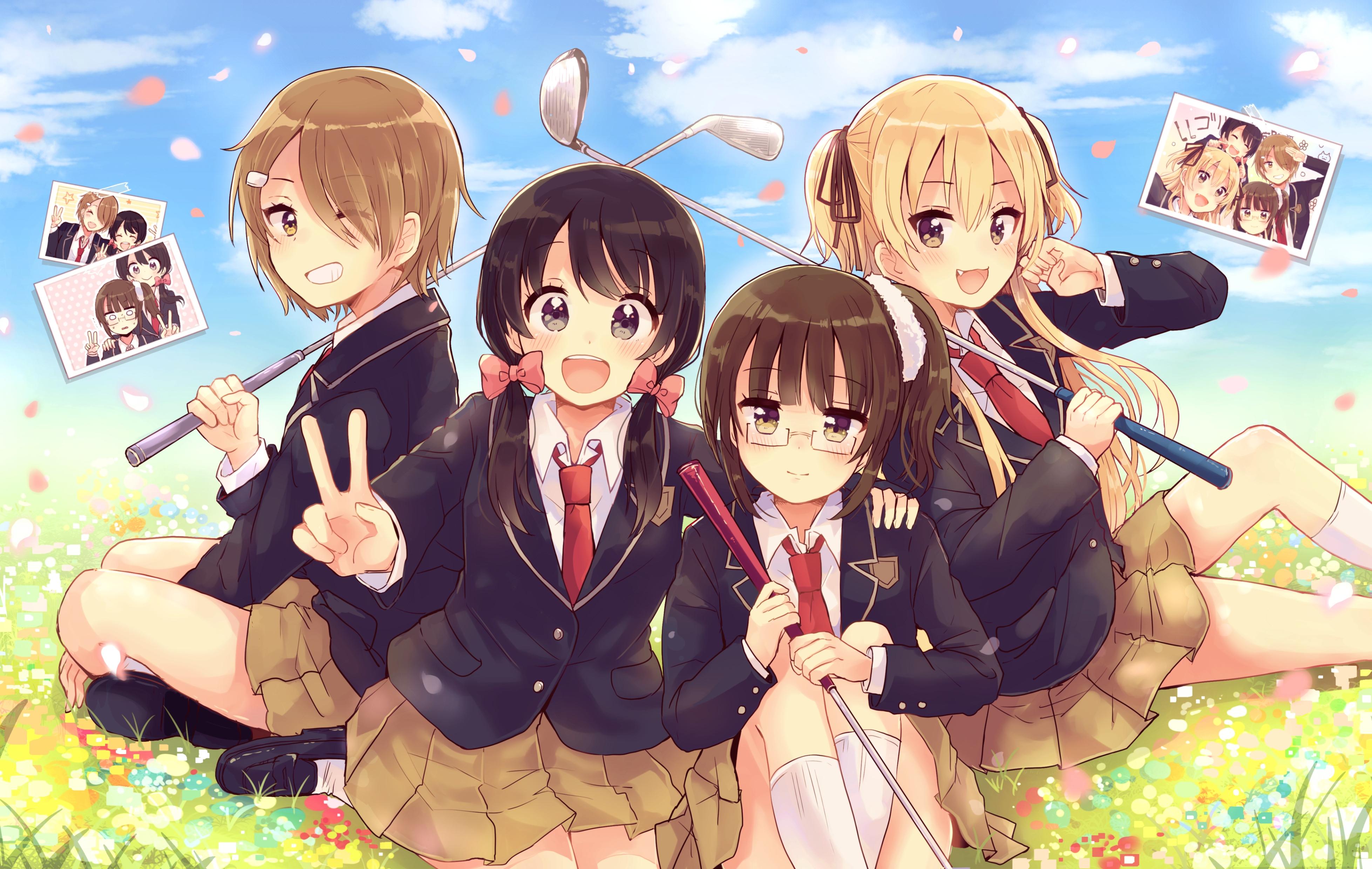 Wallpapers Anime Girl Cute خلفيات انمي بنات صداقة صور خلفيات بنات انمي صديقات خلفيات