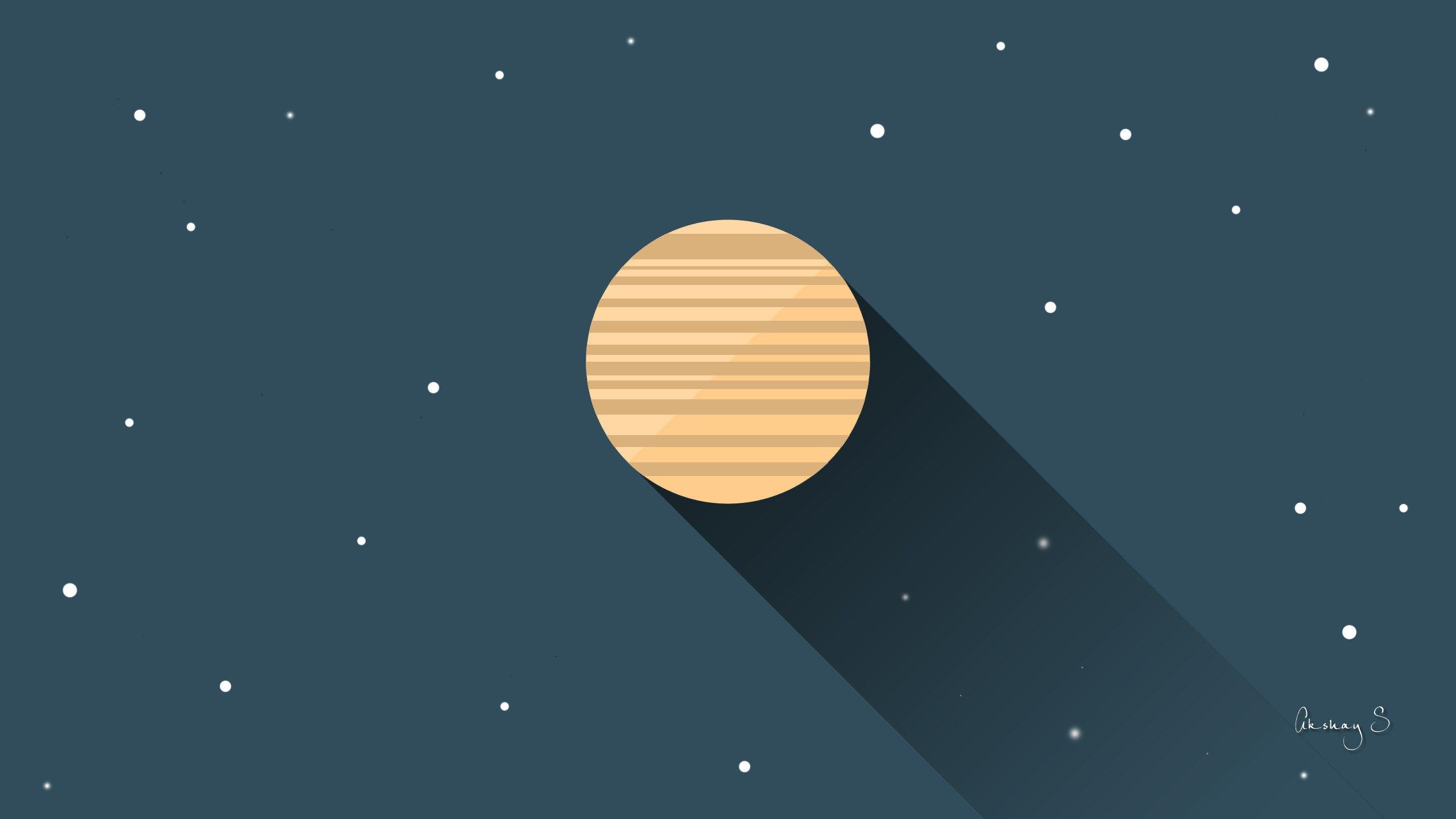 Hd Material Design Wallpapers Planet Flatdesign Digital Art Minimalism Space Art Hd