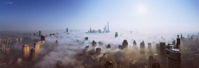 skyscraper, Mist, Heights, Sky, Sun, Cityscape, Shanghai, Ultra wide HD Wallpapers / Desktop and ...