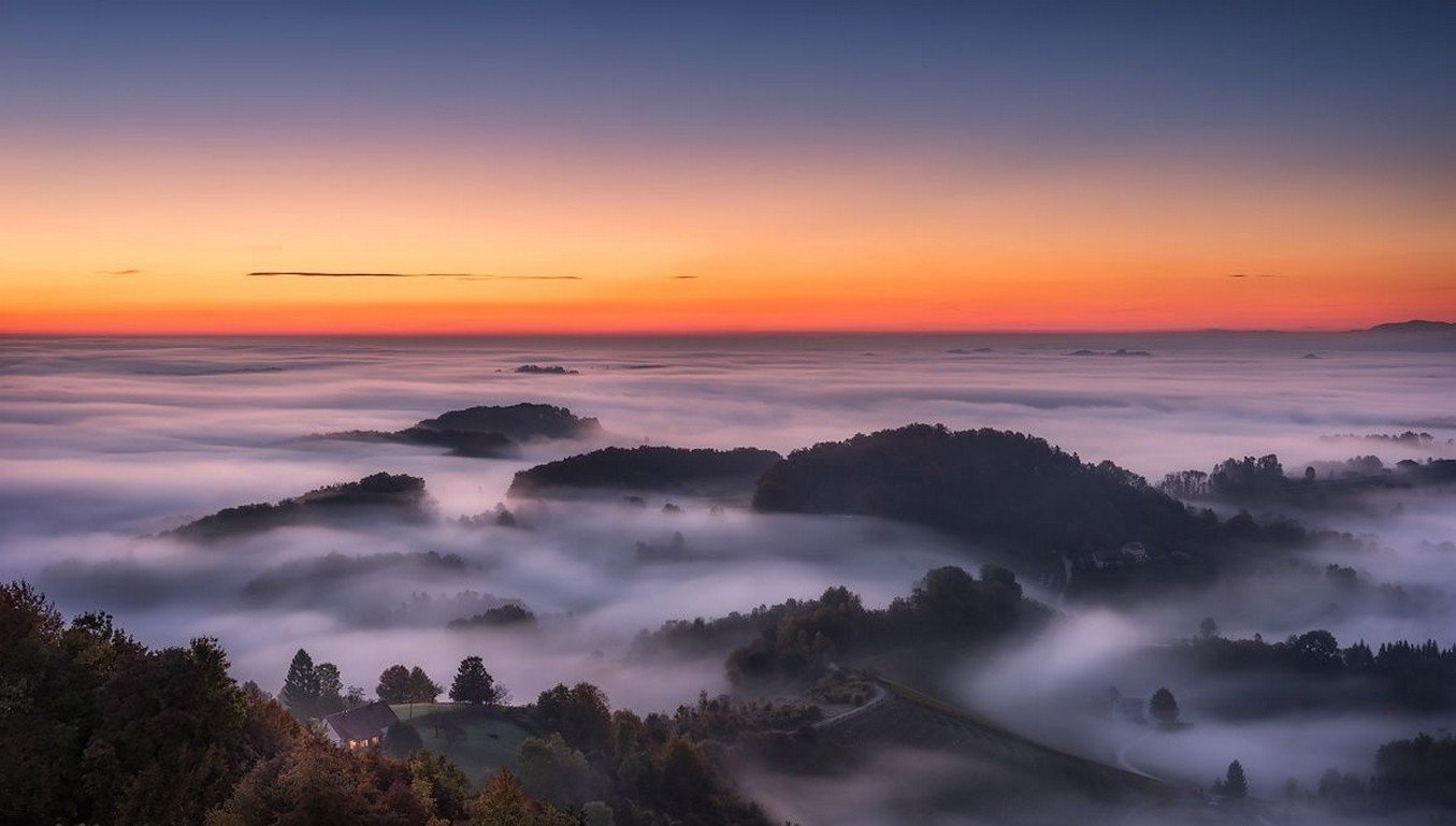 Good Anime Wallpaper Nature Landscape Photography Sunrise Hills Mist