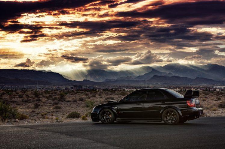 Subaru Impreza Wallpaper Hd Car Subaru Impreza Wrx Sti Subaru Black Cars Sunset