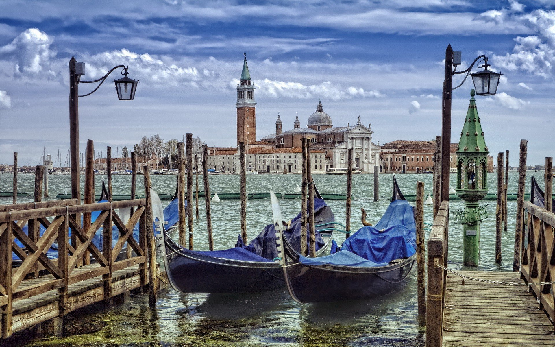 Gondolas Venice Grand Canal Hd Wallpapers Desktop And