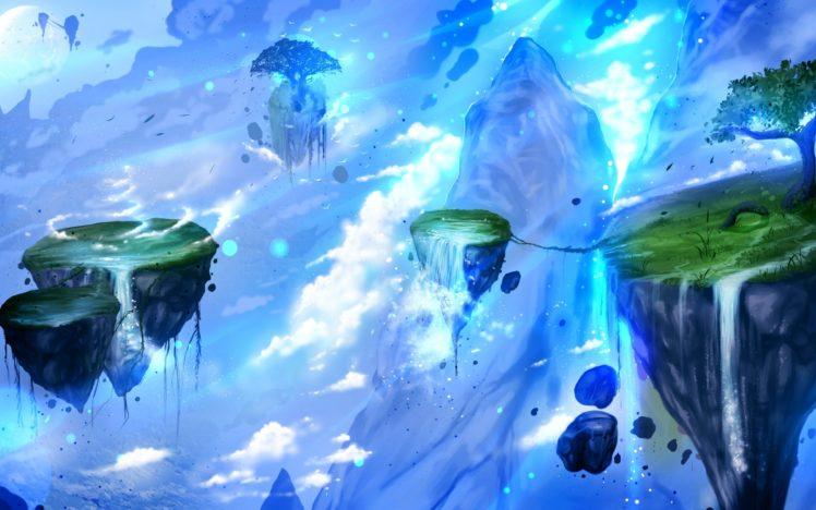 Adventure Time Anime Wallpaper Fantasy Art Artwork Floating Island Hd Wallpapers