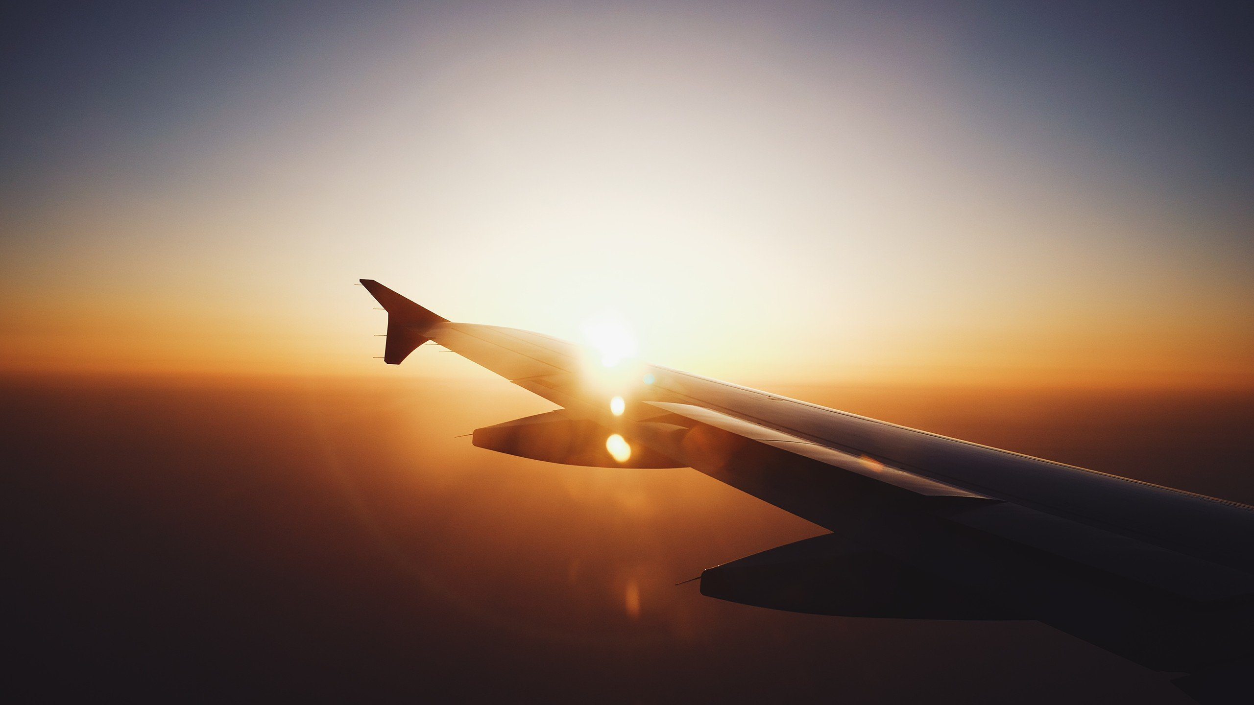 Hd Aeroplane Wallpapers For Desktop Airplane Airplane Wing Sunset Lens Flare Hd Wallpapers