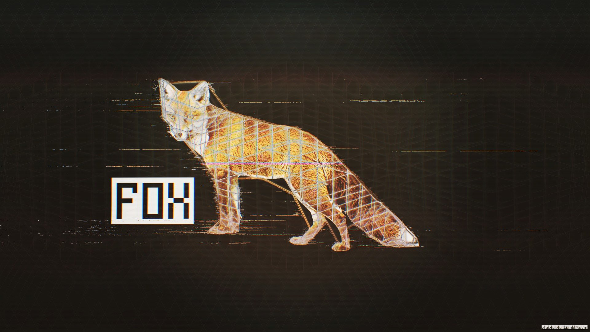 Abstract Fox Art Glitch Art Fox Black Abstract Hd Wallpapers Desktop