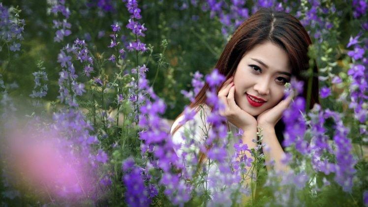 Girl Face Wallpaper For Mobile Women Model Brunette Long Hair Asian Women Outdoors