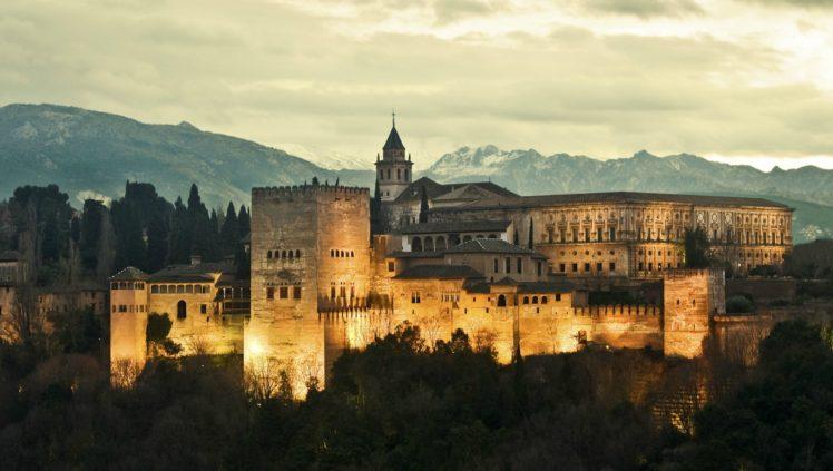 Spain Alhambra Fortress Granada Hd Wallpapers Desktop
