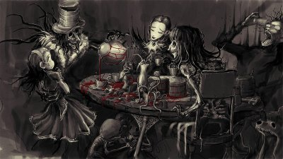 Gothic, Alice in Wonderland, Blood, Selective coloring HD ...