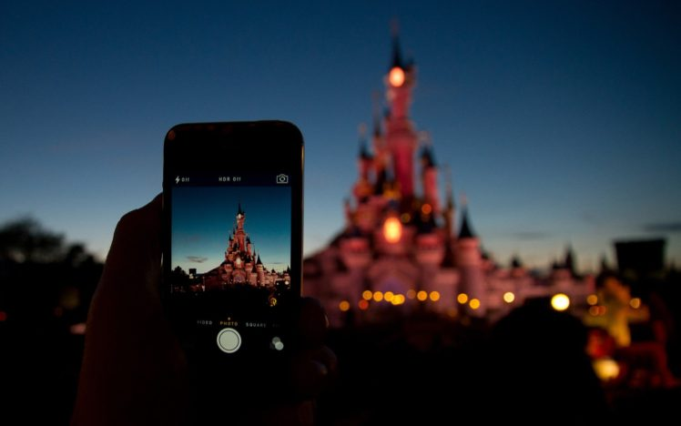 Cell Phone Fall Wallpaper Disney Castle Phone Cellphone Bokeh Hd Wallpapers