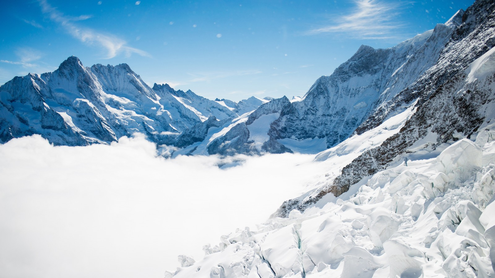 Pure And Original Bernese Alps Winter Mountains 4k Wallpapers | Hd