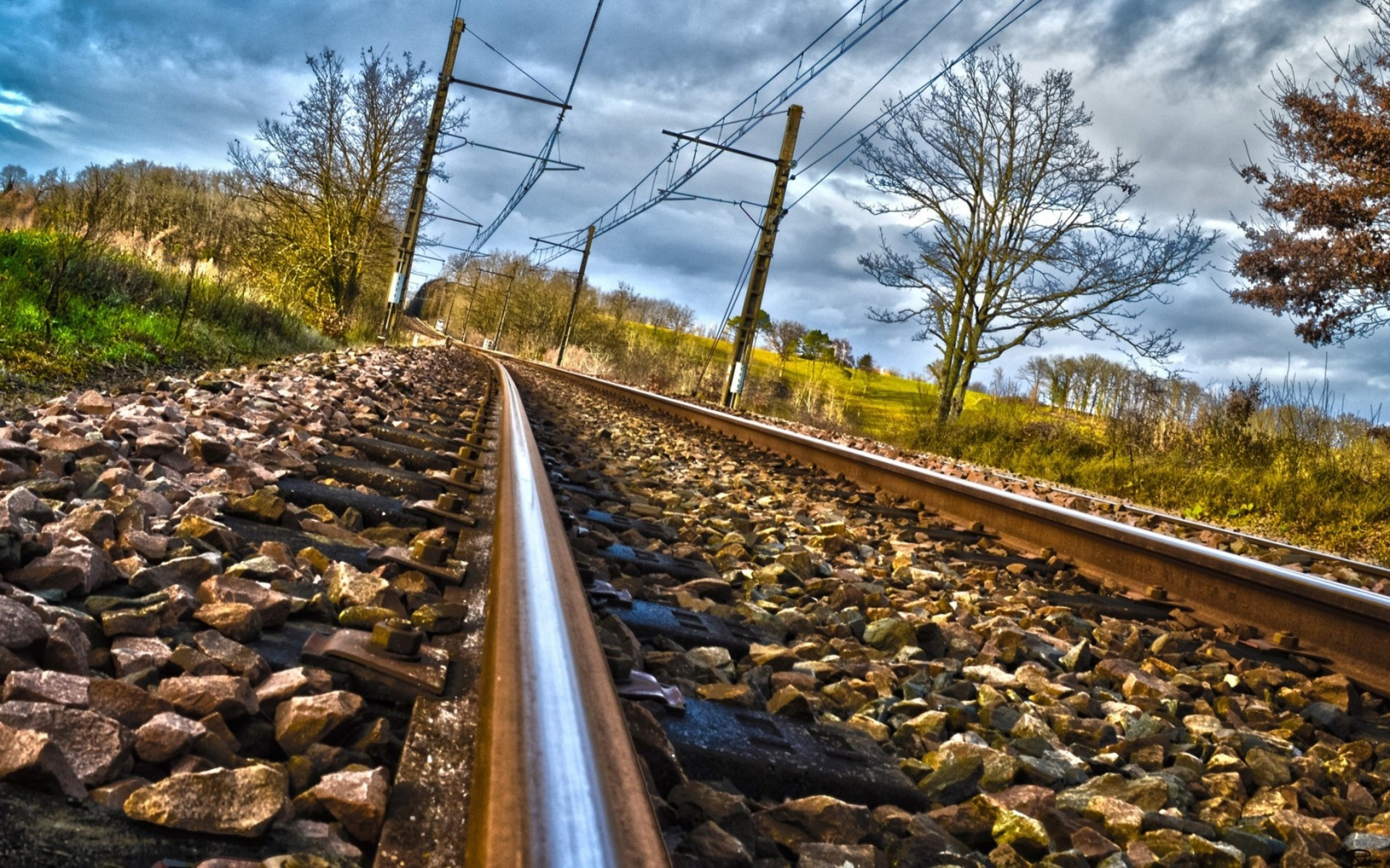 Free Fall Cell Phone Wallpapers Train Track Wallpapers 37975 1920x1200 Px Hdwallsource Com