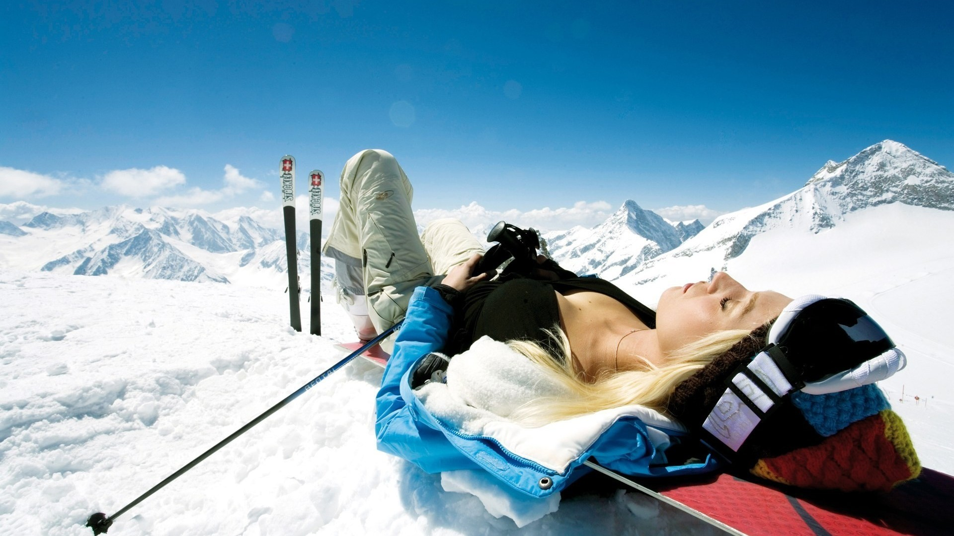 Skiing Wallpaper Skiing Girl Hd Wallpaper 53337 1920x1080px