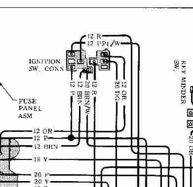 1970 chevy ignition switch wiring diagram