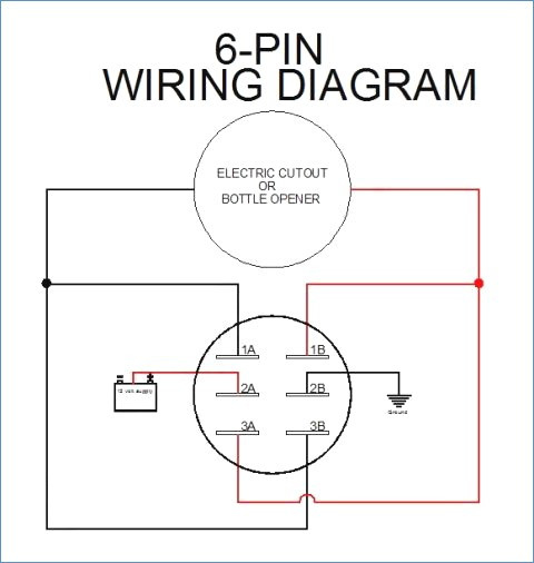 6 pin toggle switch diagram