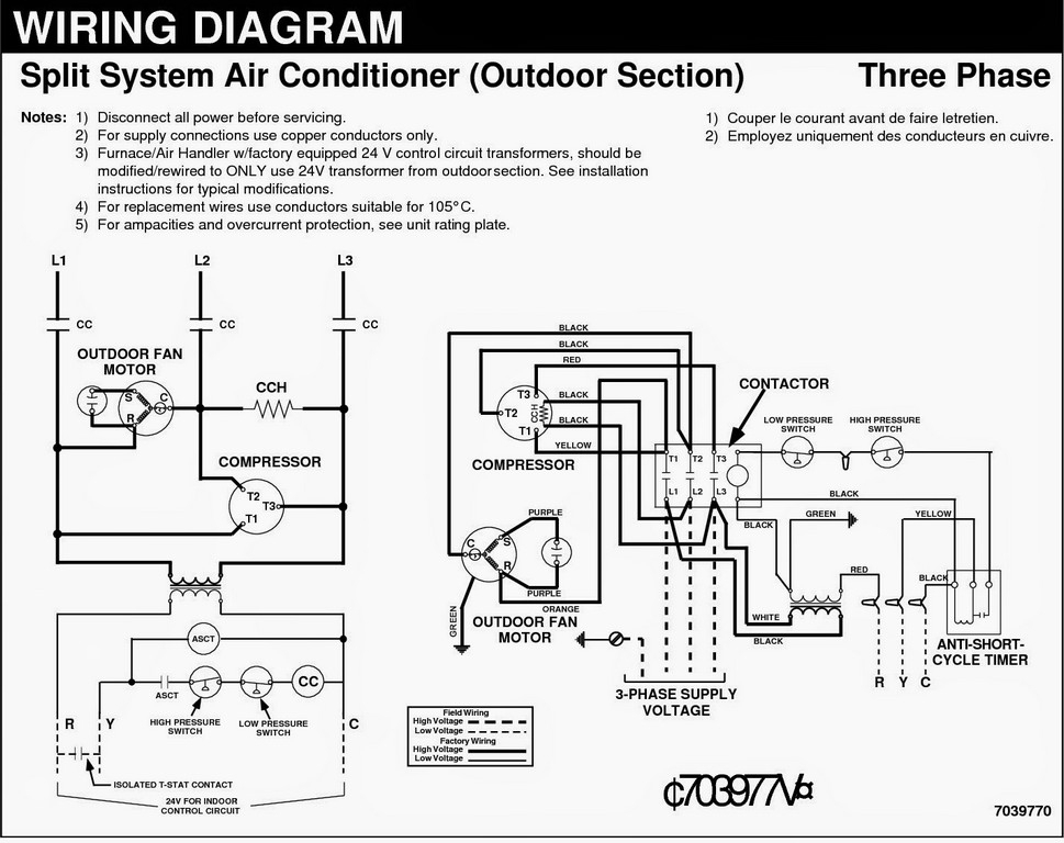 goodman 3 ton package unit wiring diagram