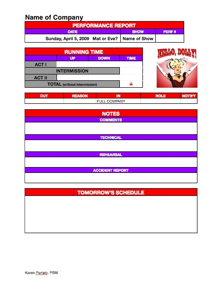 Stage Management Templates - HeadsetChatter - company forms templates