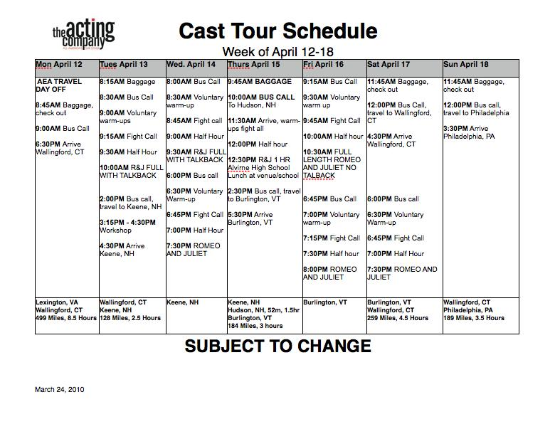 Stage Management Templates - HeadsetChatter