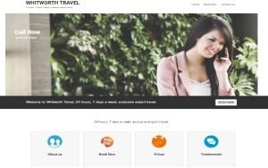 whitworth travel website design