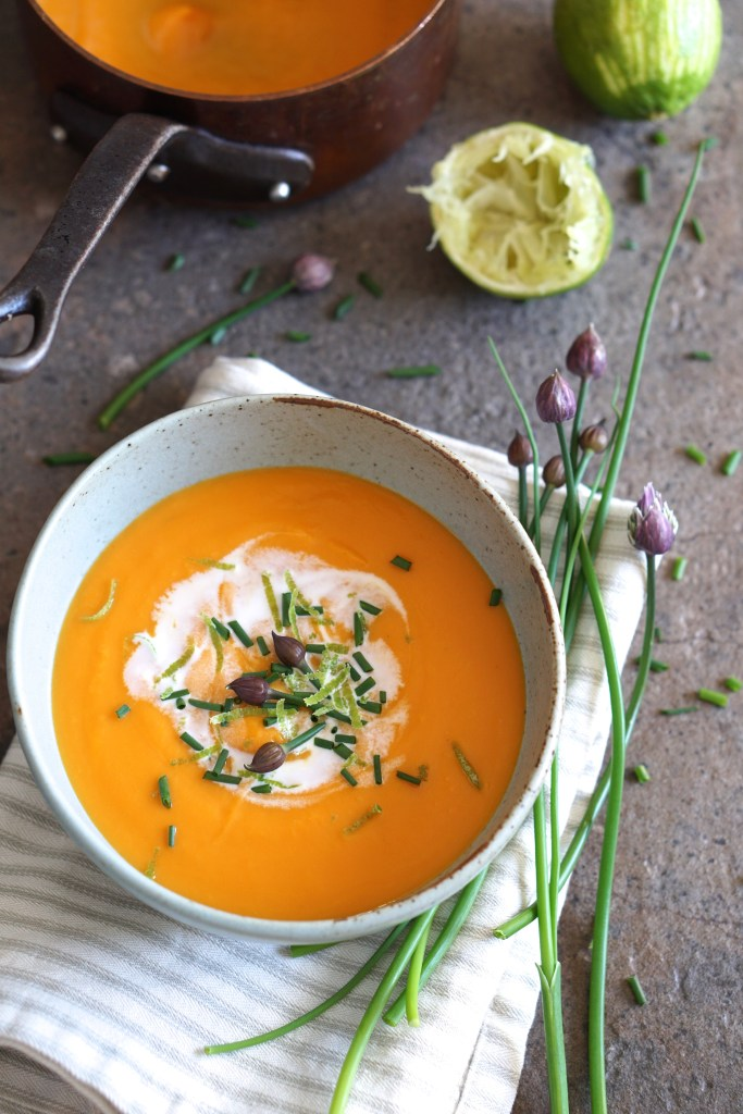 Sweet Potato and Lime Soup {HFE}