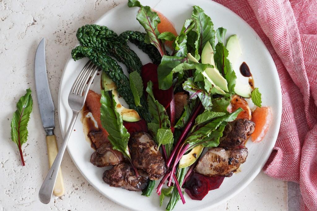 Warm Chicken Liver Salad {AIP}