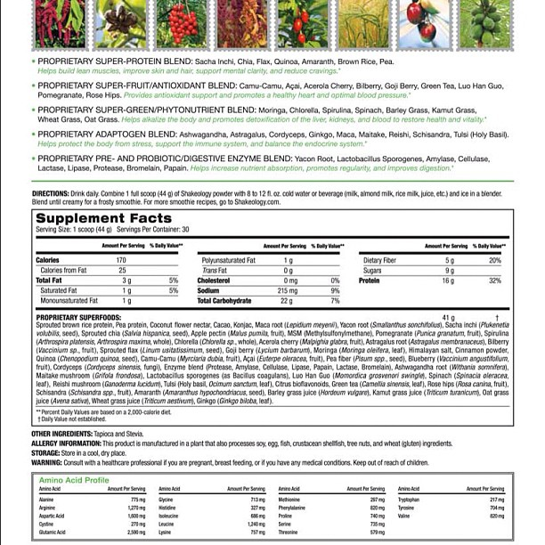 chocolate vegan shakeology ingredients The Health Patriot