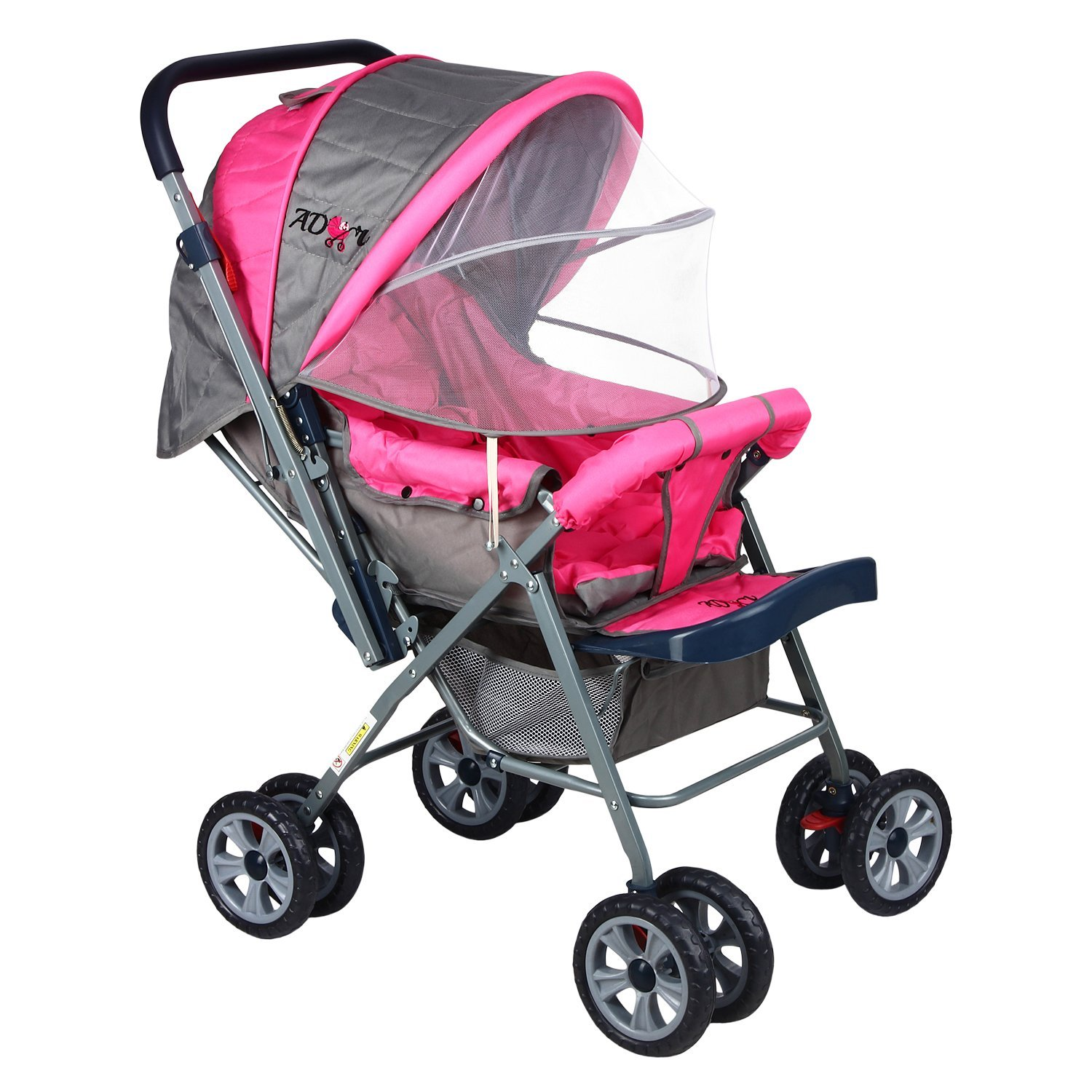 Toddler Stroller India Compare Buy Ador Comfort Baby Stroller 33a Canopy Pink Online In India At Best Price Healthgenie In